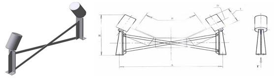 Ролики конвейерные дефлекторные