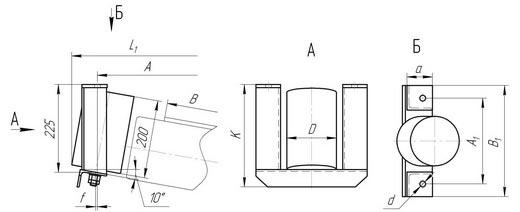 Дефлекторная роликоопора конвейерная