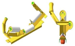 Центрирующая роликоопора конвейерная